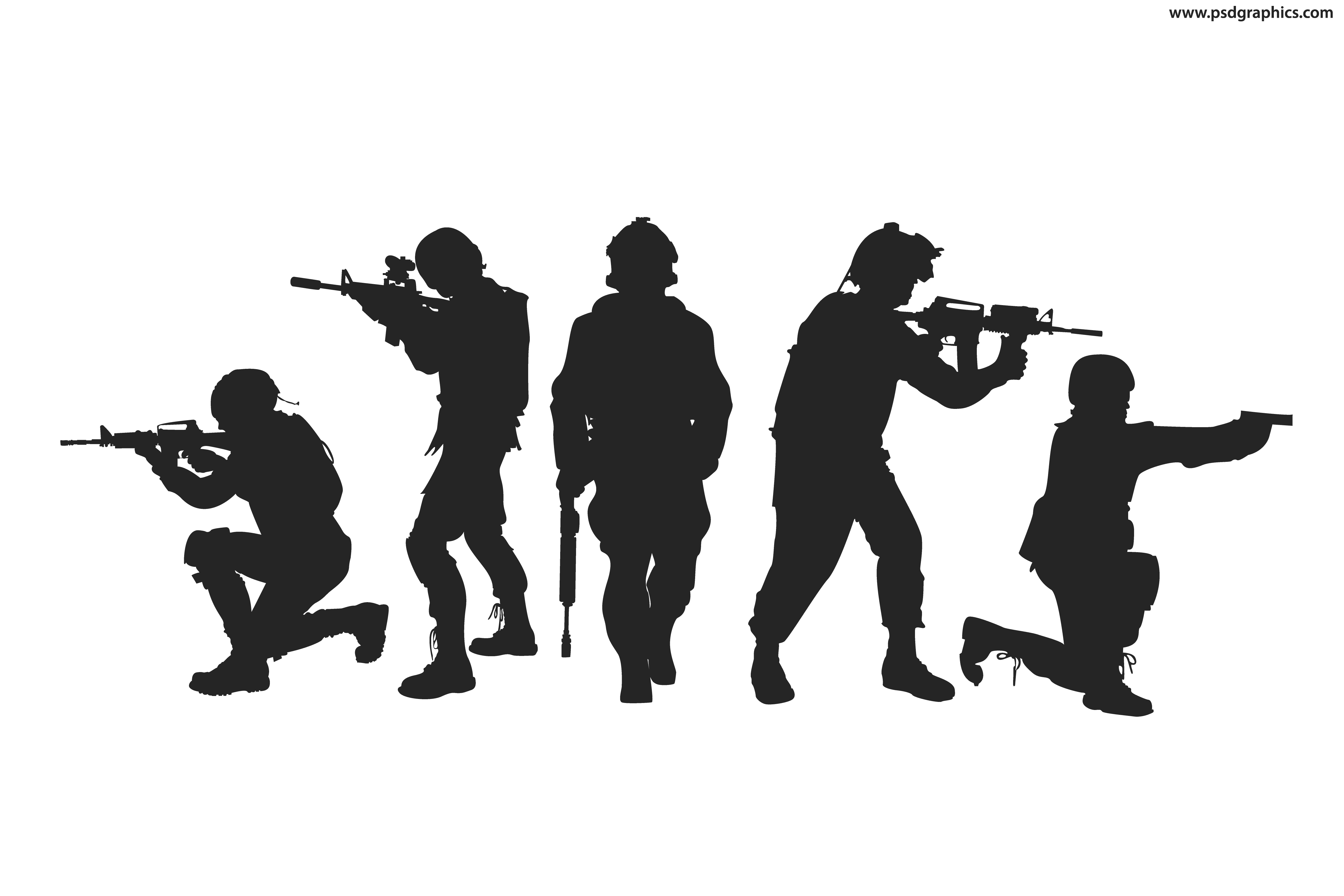 Silhouette Soldier Military Army.