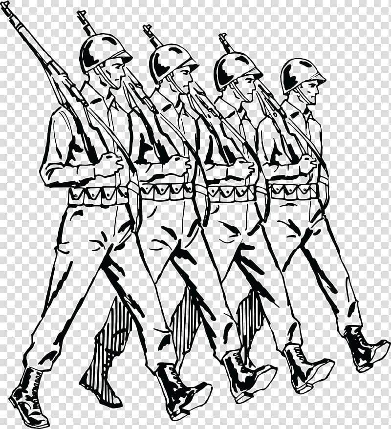 Marching Soldier Army , Soldier transparent background PNG.