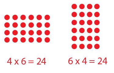 Multiplication array clipart.