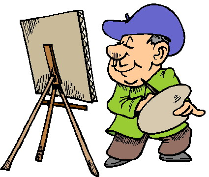 Free Clipart Of Artist Painting.