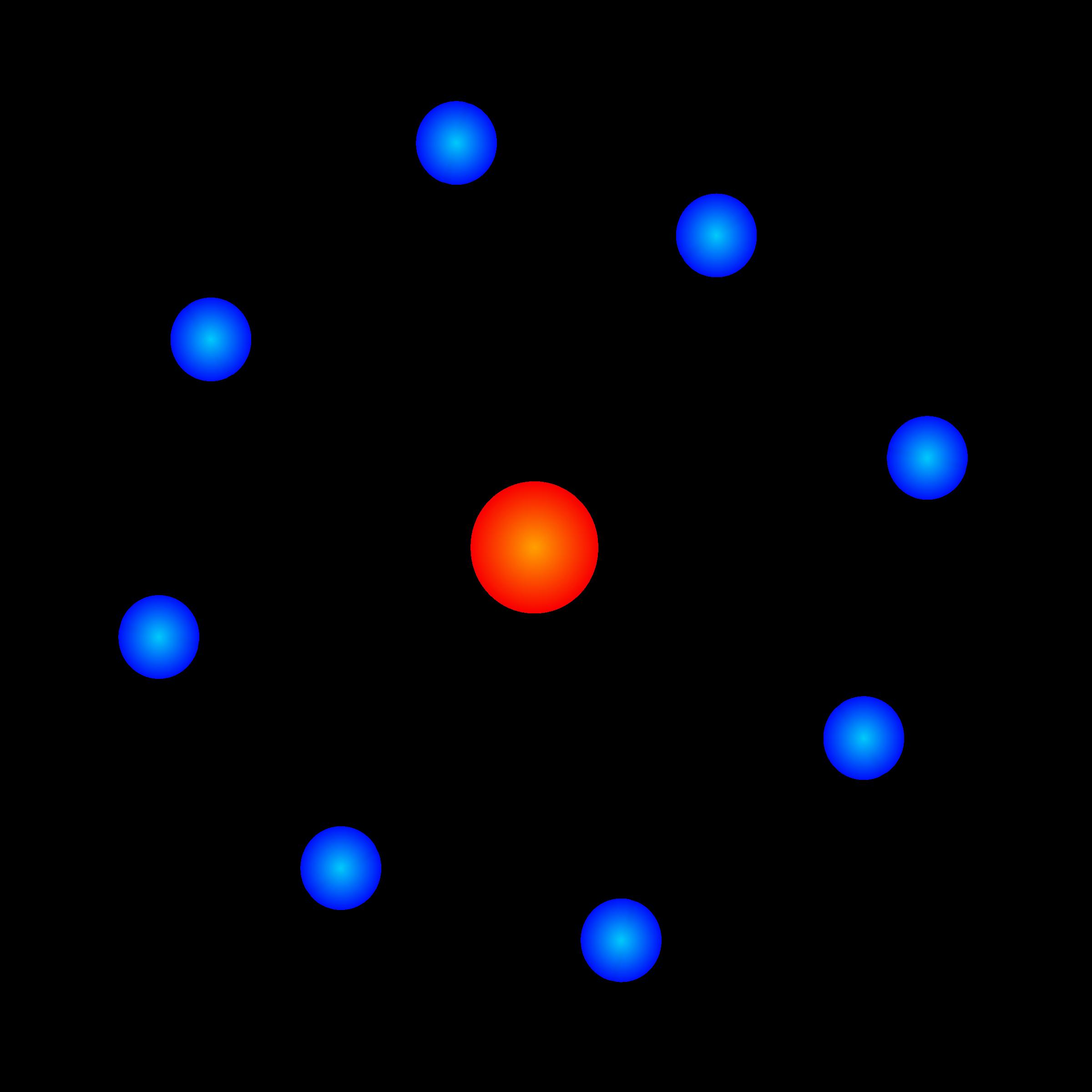 Atom Model Clipart.