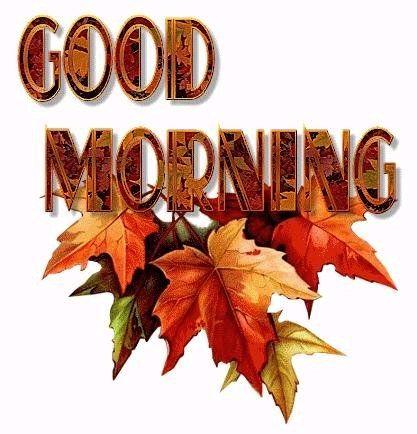 Fall Good Morning Clipart.
