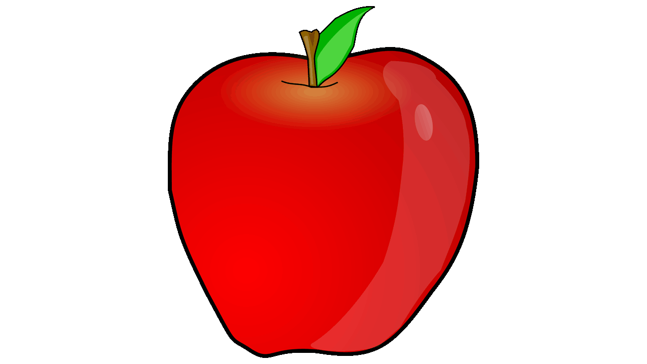 Clip art of apple.