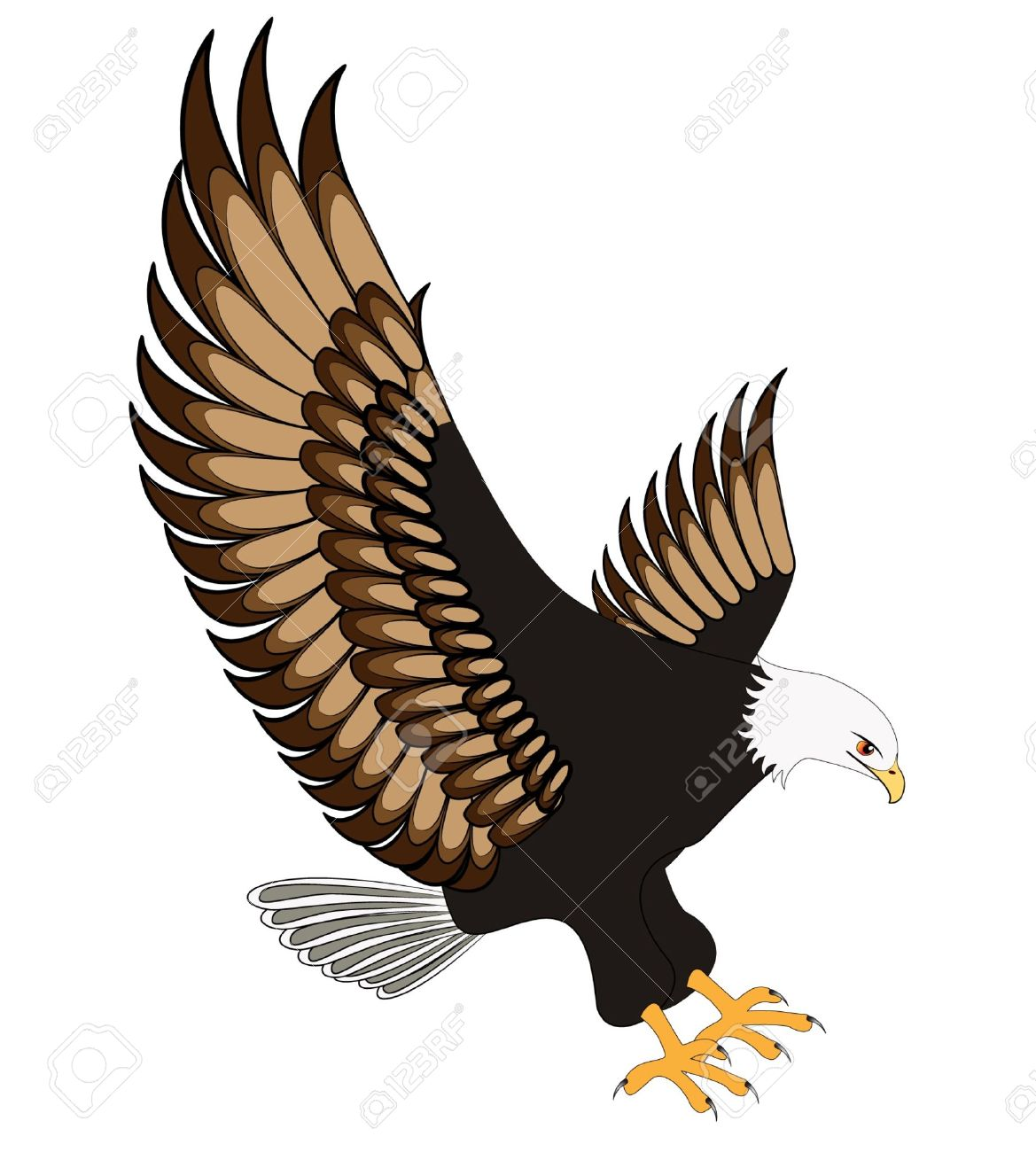 Eagle flying clipart 5 » Clipart Station.