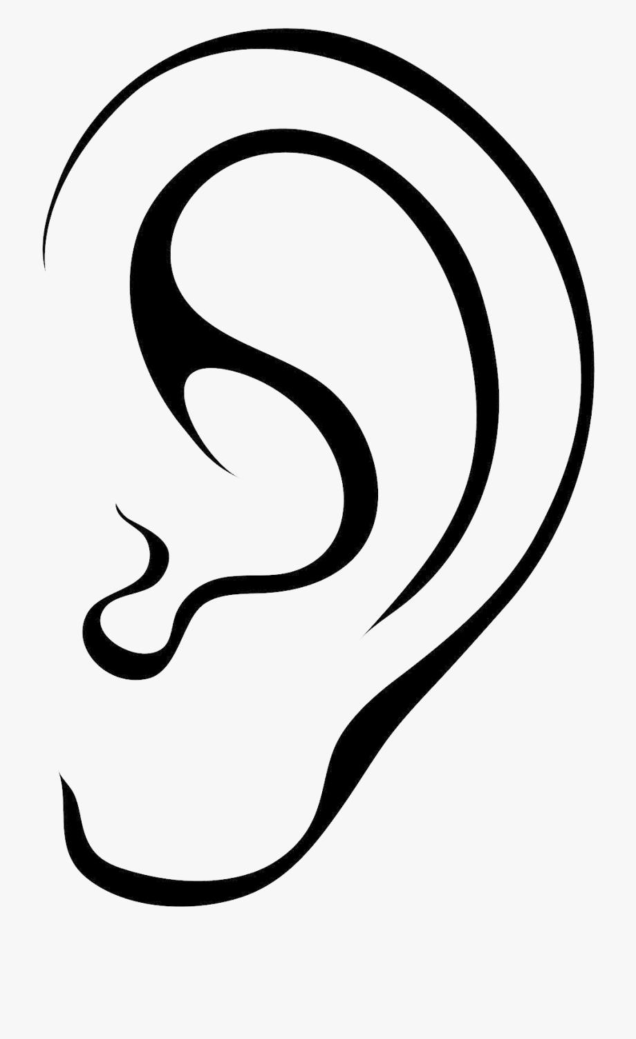 Ear Black Clipart Transparent Png.