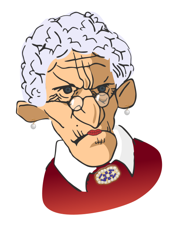 Free clip art elderly woman.