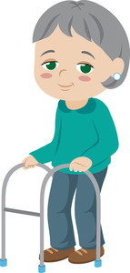 Elderly woman clipart.