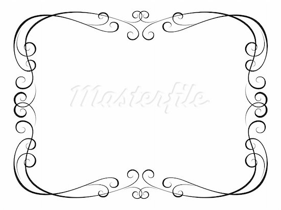 black scroll frame clipart #11
