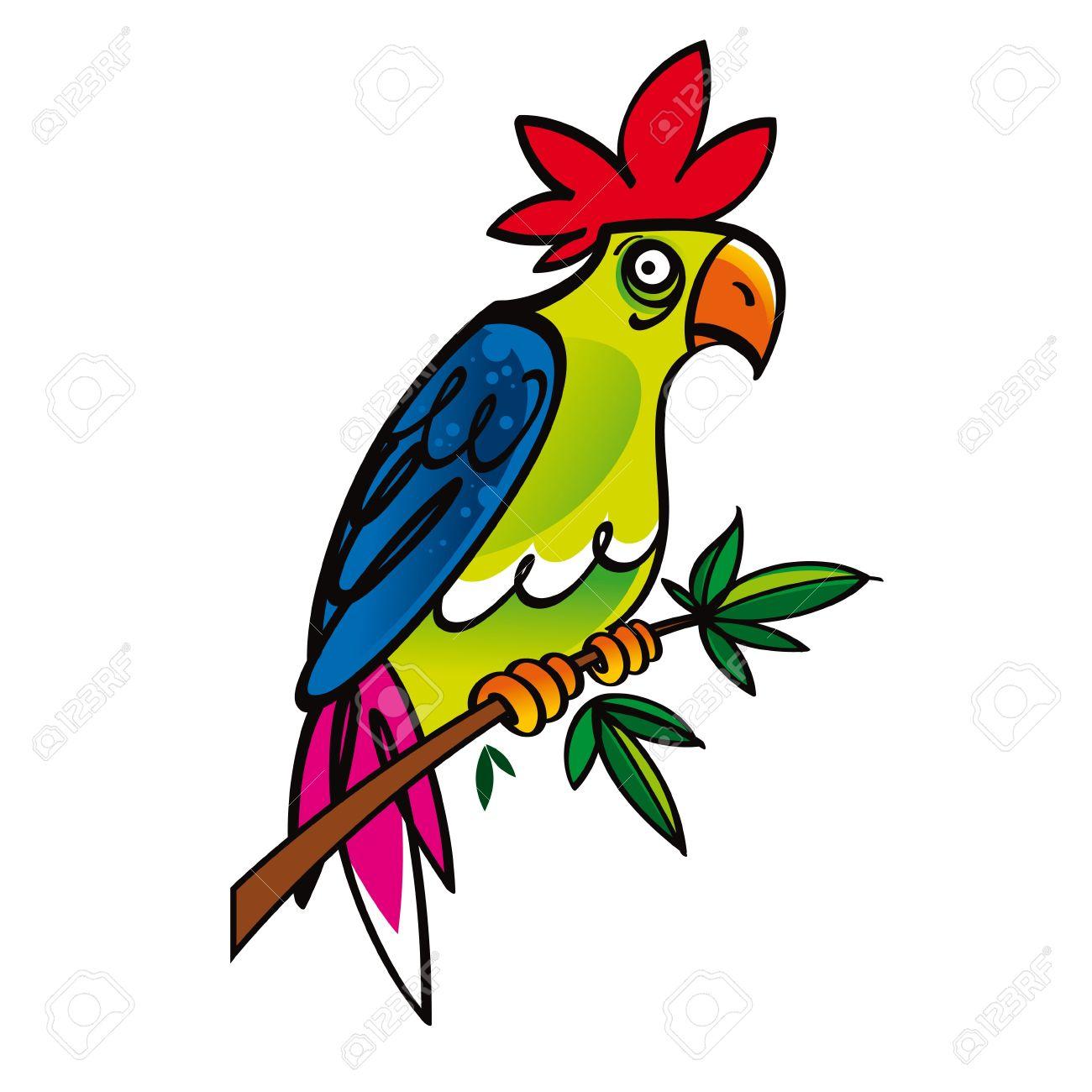Exotic birds clipart.