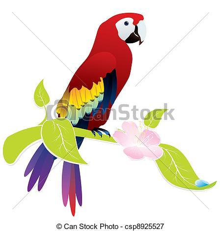 Vectors Illustration of parrot ara.