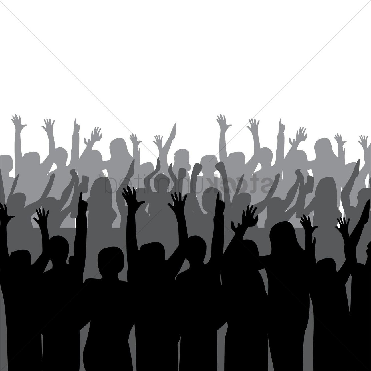HD Crowd Silhouette Png Vector Images » Free Vector Art.