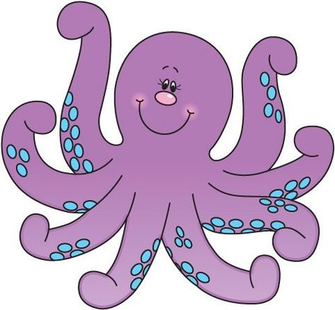 Octopus clipart 3 image.