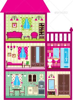 dollhouse illustration.