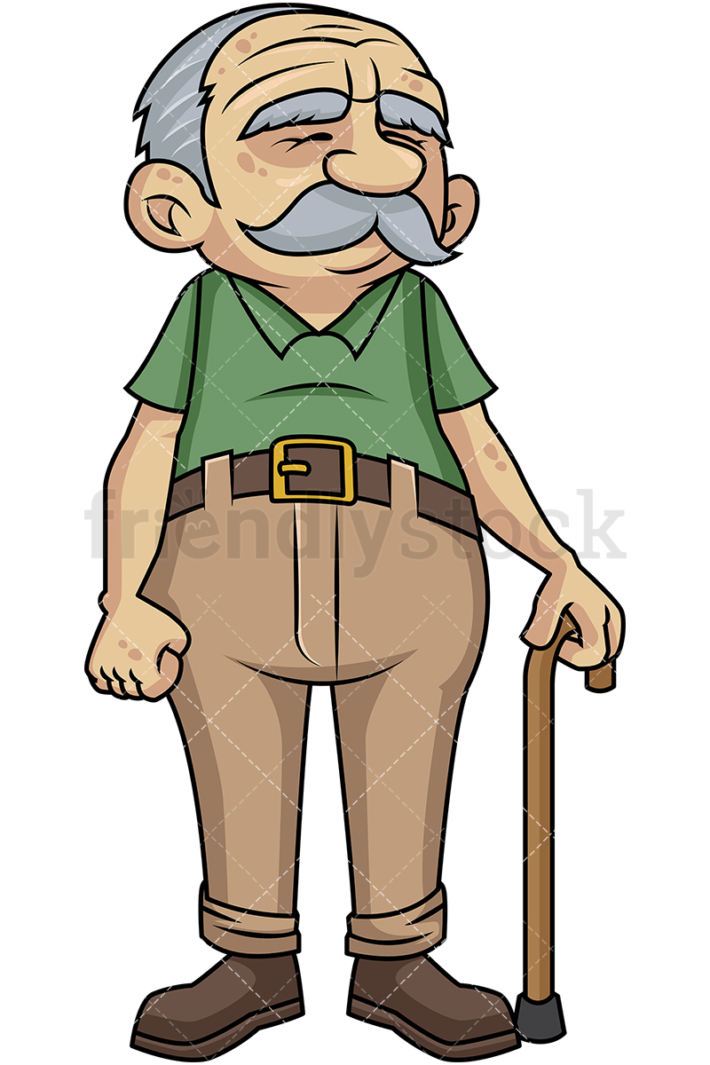 Old Man Working Clipart.