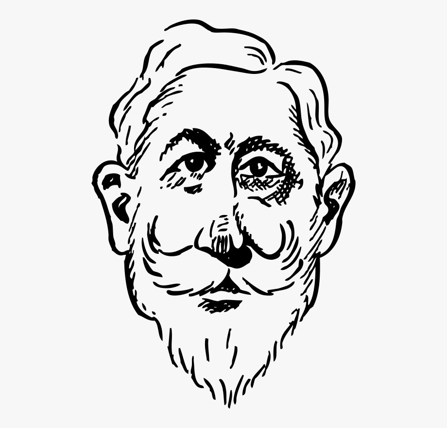 Old Man Face Clip Art , Transparent Cartoon, Free Cliparts.