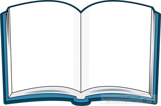 Open Book Clip Art Template.
