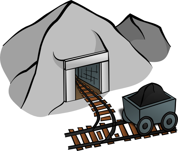 Mining coal cartoon.