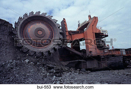 Stock Photo of Open Cast Coal Mining in Thailand bui.