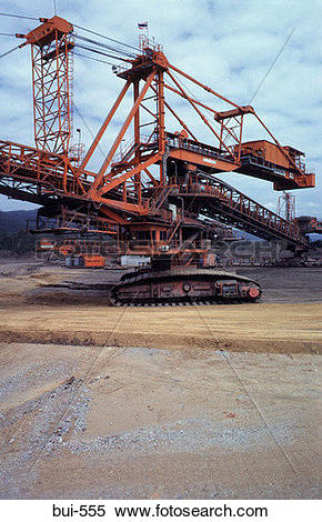Stock Image of Open Cast Coal Mine in Thailand bui.