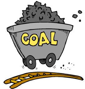 Mining coal cartoon.