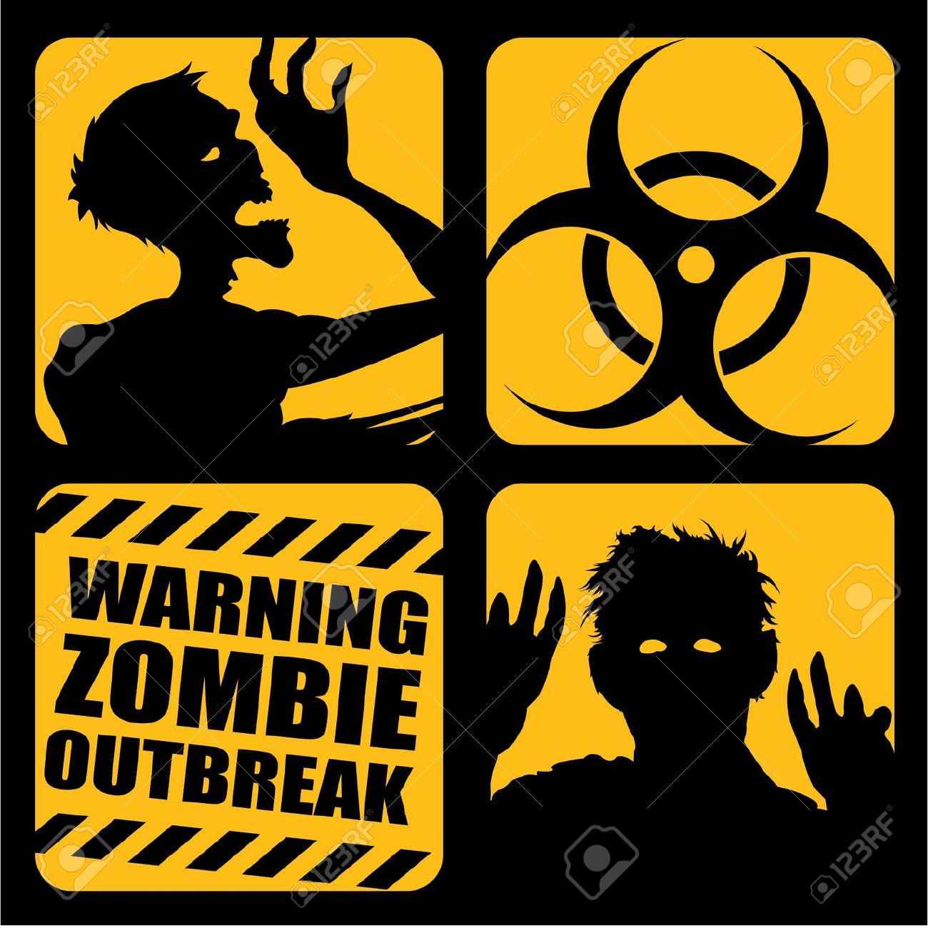 1,164 Zombies Walking Stock Vector Illustration And Royalty Free.