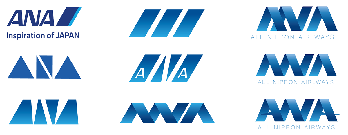 New logo for All Nippon Airways on Behance.