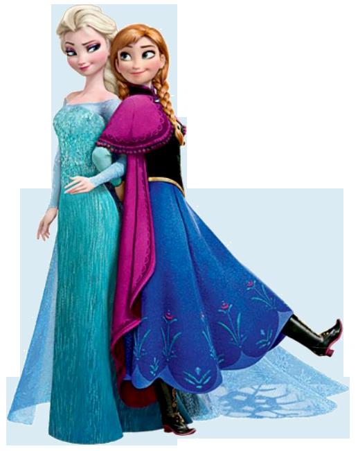 Frozen: Ana and Elsa Clip Art..