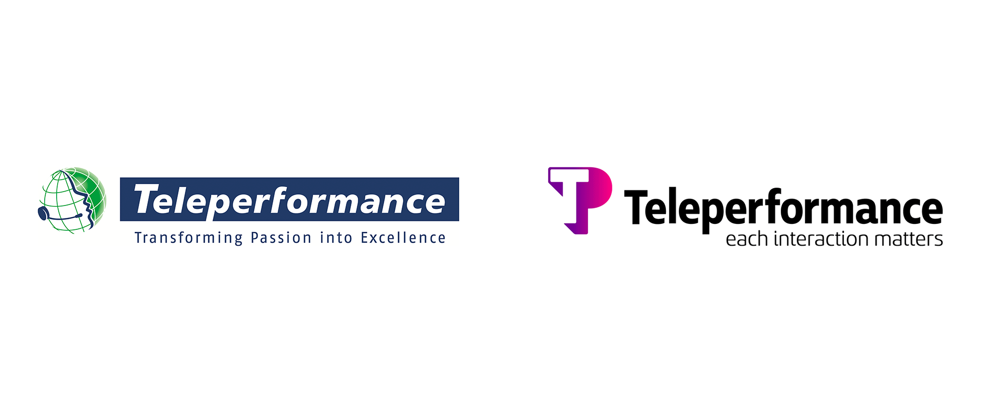 Brand New: New Logo and Identity for Teleperformance by Ana Couto.