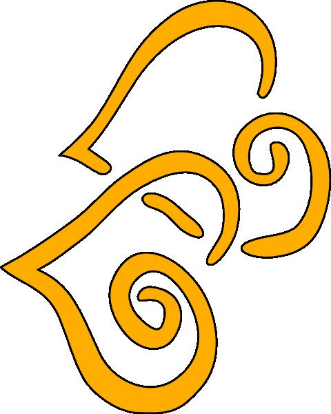 Orange Hearts Clip Art at Clker.com.