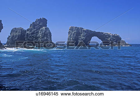 Stock Image of Arch Rock on Anacapa Island, Channel Islands.
