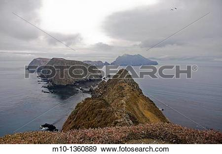 Stock Photograph of Inspiration Point on Anacapa Island.