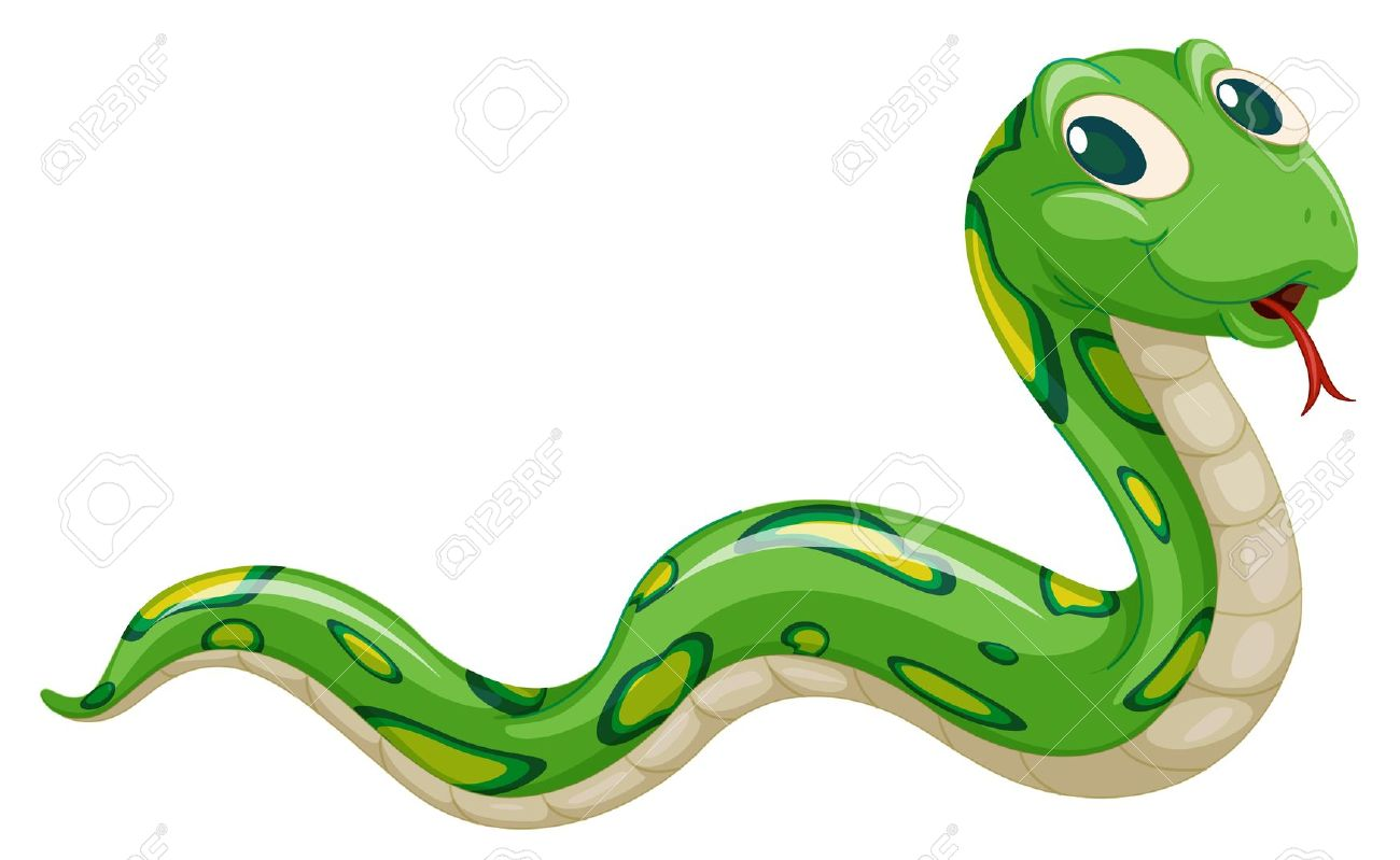 Green anacondas clipart.