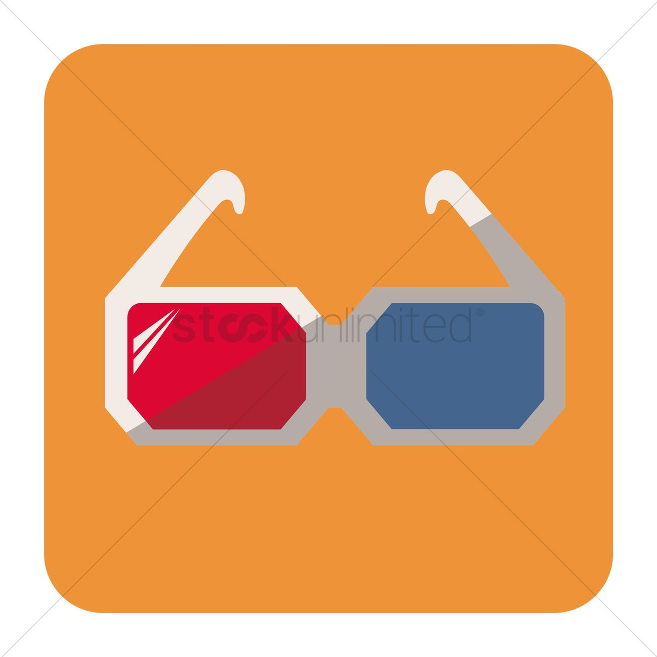Free Anaglyph 3d glasses Vector Image.