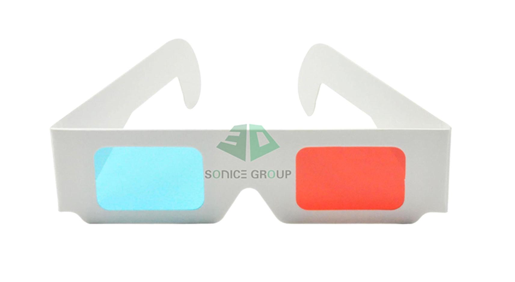 Paper 3d glasses clipart.