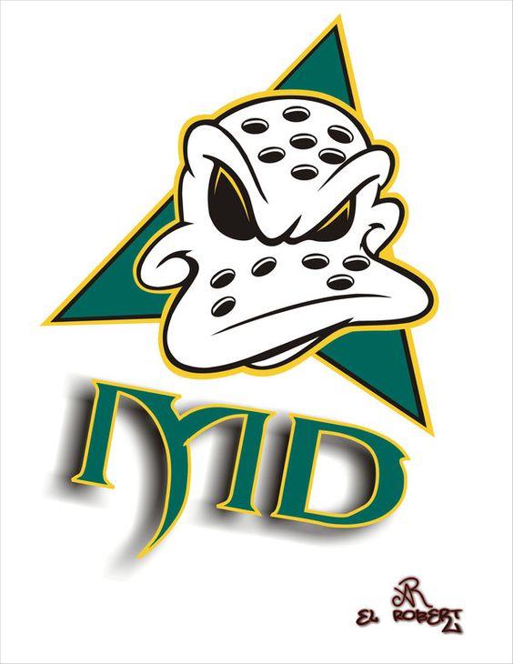 The Mighty Ducks Cartoon Logo By El Ralo Clipart.