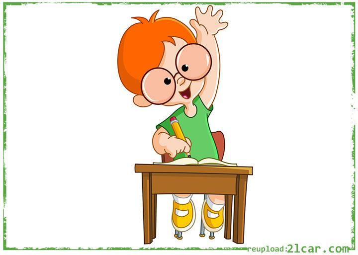 Gambar Kartun Anak Sekolah Laki.