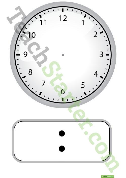 Free Blank Analog Clock, Download Free Clip Art, Free Clip.