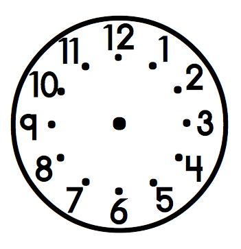 Blank Analog Clock.