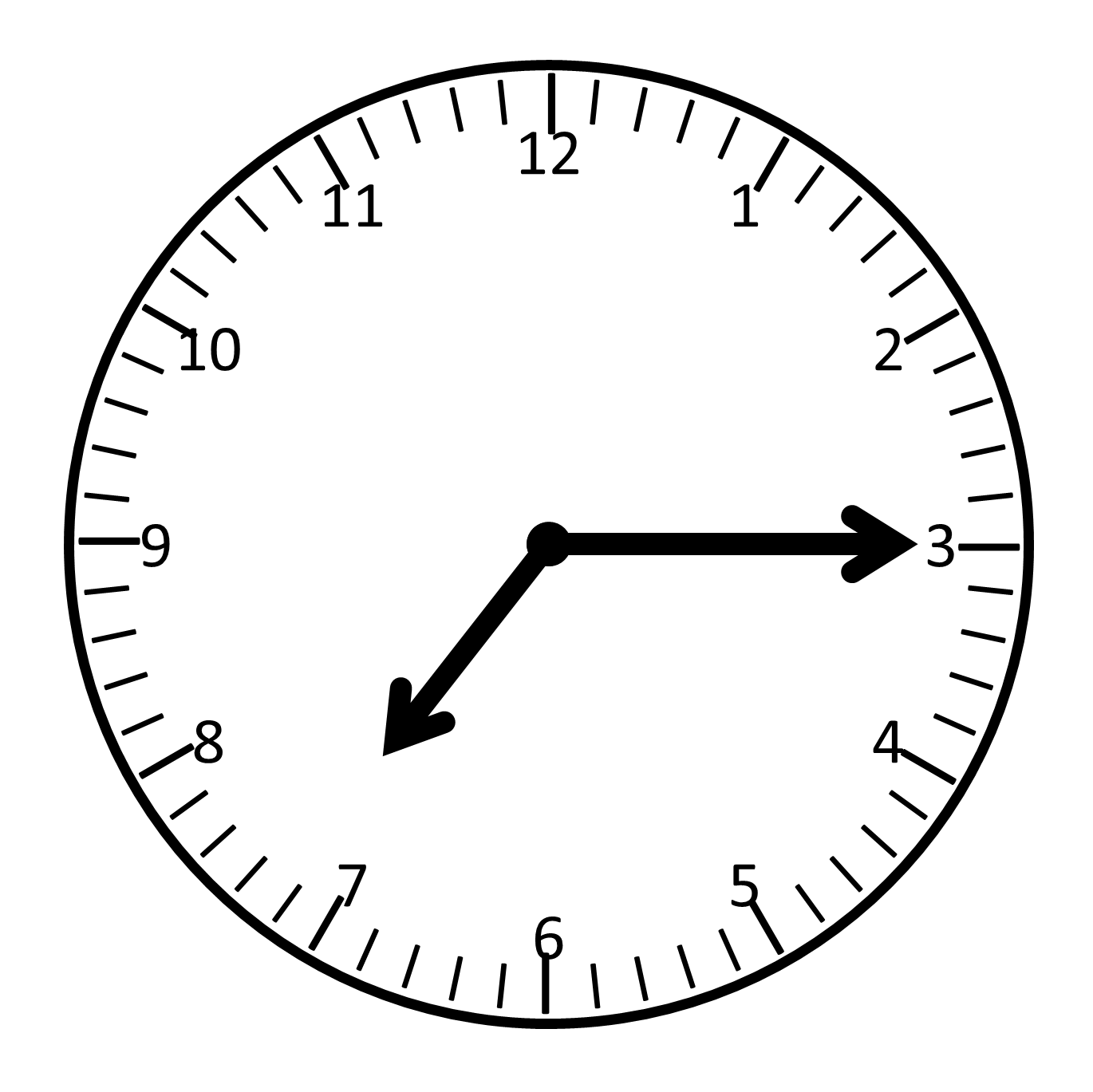Analog Clock Clipart.