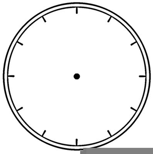 Blank Analog Clock Clipart.