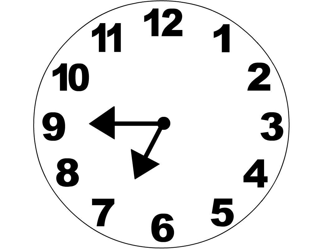 Analog Clock Clipart Black And White.