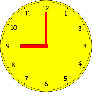 Analog clock clip art.
