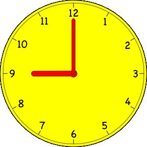 Analog clock clip art.