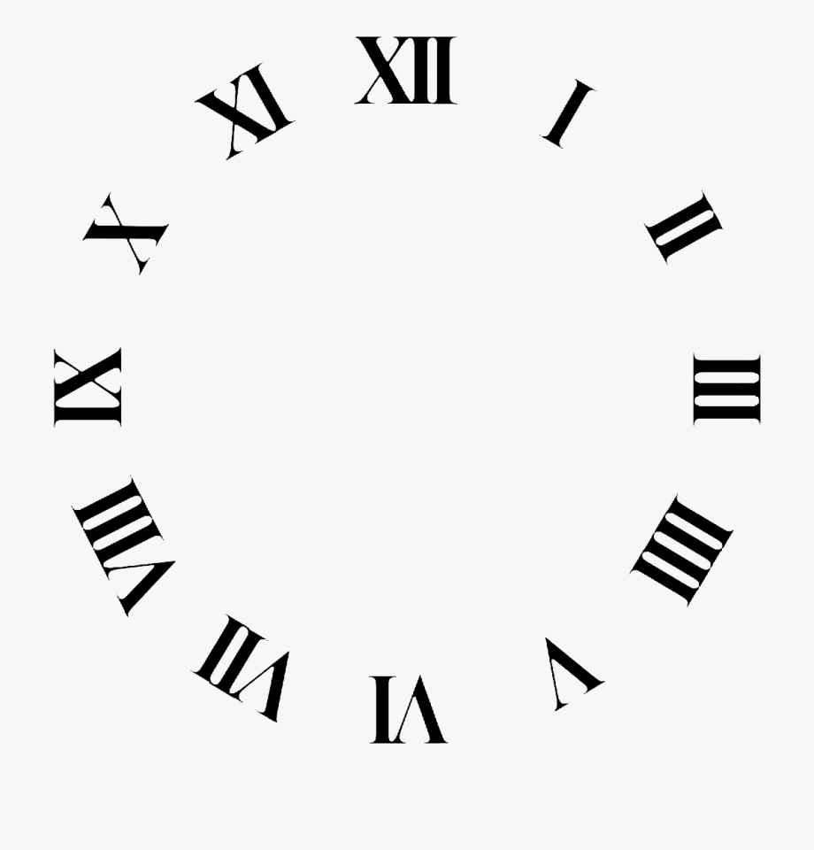 Clock Face Roman Numerals Time Clip Art.