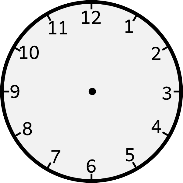 Free Analog Clock Without Hands, Download Free Clip Art.