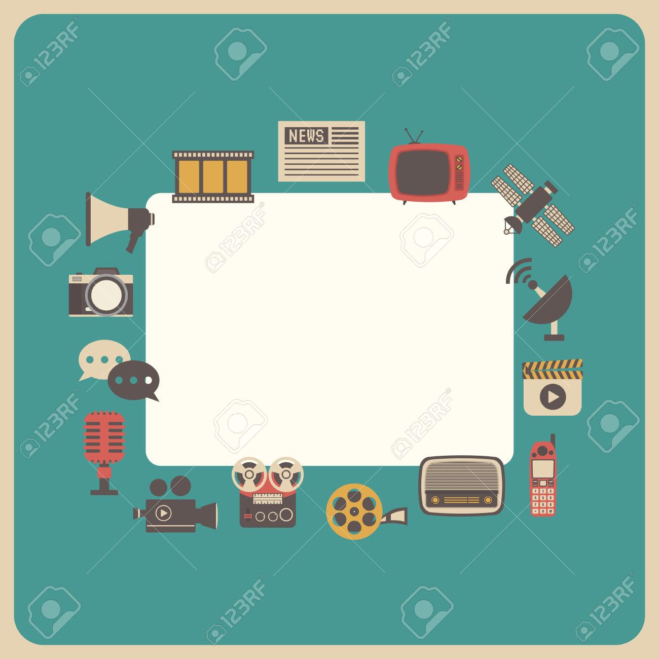 Communication Icon, Retro Technology, Analog Style Royalty Free.