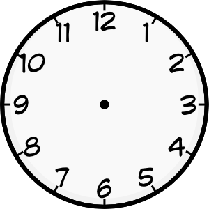 Blank Analog Clock Clip Art.