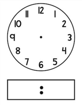 Blackline/Clip Art Clock Template.