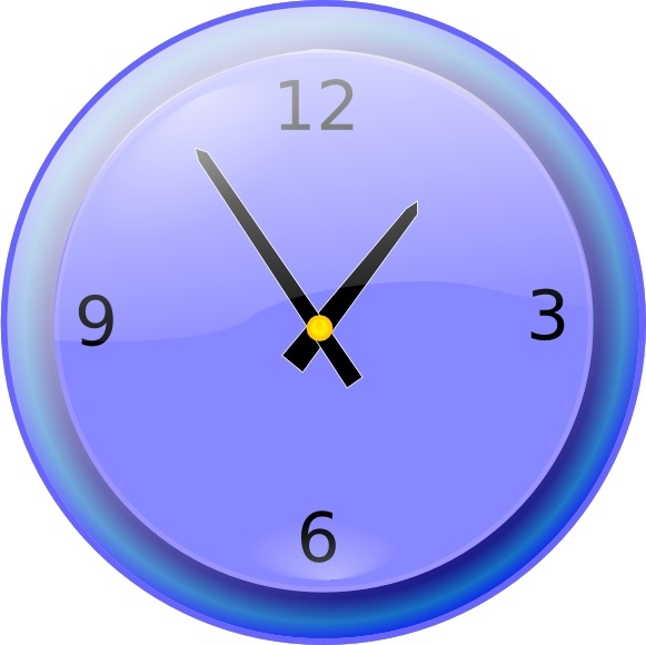 Analog Clock clip art Free vector in Open office drawing svg.