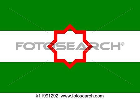 Clip Art of andalusia flag k11991292.